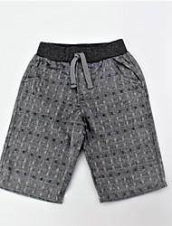 economico -Pantaloni Da ragazzo Quotidiano Cotone Monocolore Jacquard Estate Semplice Casual Grigio