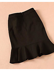 cheap -Women's Simple Trumpet / Mermaid Skirts - Solid Colored / Summer / Mini