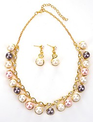 cheap -Women's Jewelry Set - Ball Classic, Fashion Include Drop Earrings / Pendant Necklace Gold For Gift / Daily