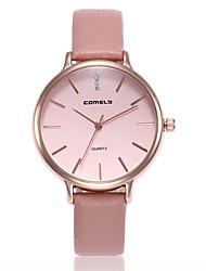 baratos -Mulheres Quartzo Relógio de Moda Relógio Casual PU Banda Casual Minimalista Preta Cinza Rosa Verde Escuro