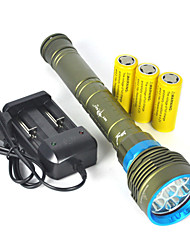 cheap -LED Flashlights / Torch / Handheld Flashlights / Torch LED 10000lm 7 Mode Professional / Anti-Shock / Waterproof Camping / Hiking /
