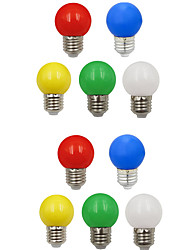 cheap -10pcs 1W 100lm E26 / E27 LED Globe Bulbs G45 8 LED Beads SMD 2835 Decorative White Green Yellow Blue Red 220-240V