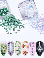 baratos -8 Nail Glitter Paetês Elegante & Luxuoso Brilho & Glitter Decorações Nail Art Design
