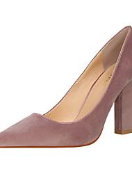 abordables -Femme Chaussures Velours Printemps Eté Escarpin Basique Confort Chaussures à Talons Block Heel Bout fermé Bout pointu pour Bureau et
