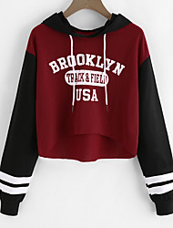 cheap -Women's Long Sleeves Hoodie - Print Letter