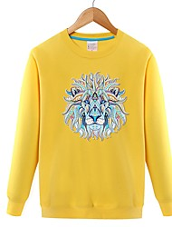 cheap -Men's Long Sleeves Sweatshirt - Solid Colored
