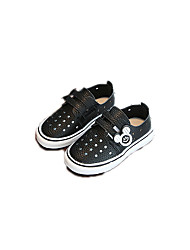 cheap -Girls' Shoes Leather / PU Spring Comfort / Light Soles Flats for White / Black / Pink