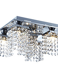 cheap -Lightinthebox 5-Light Crystal Flush Mount Ambient Light - Crystal, 110-120V / 220-240V Bulb Included / G9 / 20-30㎡