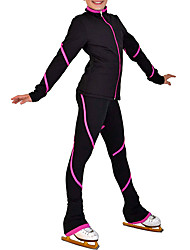 cheap -Figure Skating Jacket with Pants Women's / Girls' Ice Skating Tracksuit / Pants / Trousers / Top Blue / Pink Spandex Inelastic