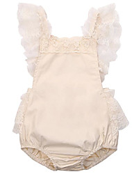 cheap -Toddler Girls' Active Going out Solid Colored Lace / Backless Sleeveless Blouse / Cute