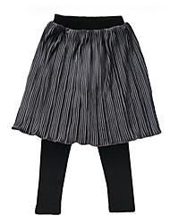 preiswerte -Mädchen Rock Alltag Solide Polyester Frühling Einfach Grau