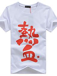 economico -T-shirt Per uomo Essenziale Moda città Alfabetico Rotonda