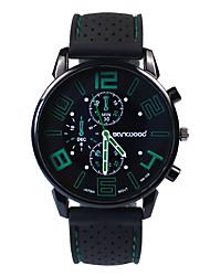 baratos -Homens Relógio de Moda Japanês Relógio Casual Silicone Banda Amuleto Preta