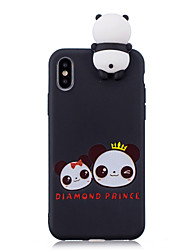 Etui Til Apple iPhone X iPhone 8 Plus Mønster Bagcover Panda Blødt TPU for iPhone X iPhone 8 Plus iPhone 8 iPhone 7 Plus iPhone 7 iPhone