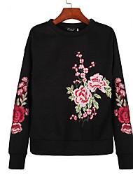 preiswerte -Damen Einfach Pullover Blumen
