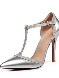 economico -Per donna Scarpe Vernice Primavera / Estate D'Orsay / Decolleté Tacchi A stiletto Appuntite Fibbia Argento / Rosso / Carne