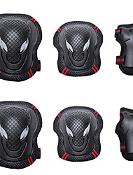 cheap -Adults' Knee Pads + Elbow Pads + Wrist Pads for Roller Skates Hoverboard Inline Skates Protective Breathable 6 pack