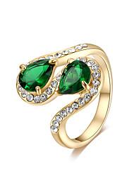 preiswerte -Damen vergoldet Bandring - Retro Elegant Violett Grün Ring Für Party Geburtstag