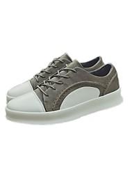 Homens sapatos Couro Ecológico Inverno Outono Conforto Tênis para Casual Preto Marron Khaki