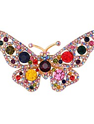 cheap -Women's Brooches Rhinestone Animals Sweet Copper Butterfly Golden Jewelry For Daily Date