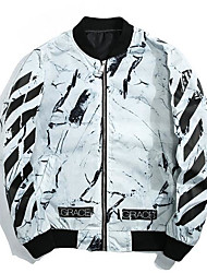 cheap -Men's Jacket - Solid Colored Painting, Print