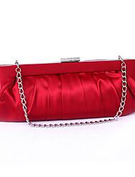 Недорогие -Жен. Мешки Шелк Вечерняя сумочка Заклепки Красный / Белый с желтым