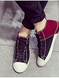 Homens sapatos Tecido Primavera Outono Conforto Tênis para Casual Branco Preto