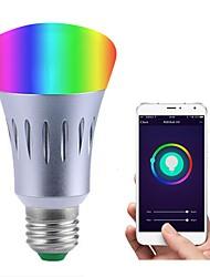 Недорогие -JIAWEN 1шт 7W 600lm E26 / E27 Умная LED лампа 14 Светодиодные бусины SMD 3528 Smart Диммируемая Контроль APP На пульте управления RGB