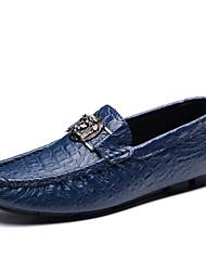 baratos -Homens sapatos Pele Inverno Coturnos Botas Botas Cano Médio para Casual Branco Preto Marron Verde Azul