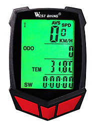 cheap -WEST BIKING® Bike Computer / Bicycle Computer Cycling Speedometer Stopwatch Waterproof Wireless Backlight Accuracy SPD - Current Speed