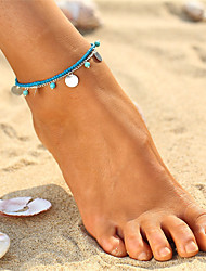 cheap -Bohemian Turquoise Anklet - Women's Gold / Silver Vintage / Bohemian Circle Anklet For Bikini / Going out