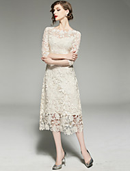 cheap -SHIHUATANG Women's Sophisticated Street chic Sheath Dress - Solid Colored, Lace