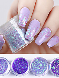 baratos -4 pcs Glitter Powder Nail Glitter Nail Art Design