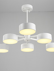billige -JLYLITE 6-Light Lysestager Ned Lys - Ministil, 110-120V / 220-240V LED lyskilde inkluderet / 40-50㎡ / Integreret LED / FCC / VDE