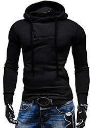 cheap -Men's Plus Size Sports Active Long Sleeves Hoodie - Solid Colored Striped Hooded