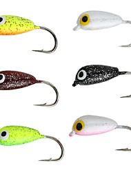 cheap -6pcs Thin Hang-Nail Ice Fishing Jig Hook