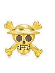 cheap -DIY Jewelry 1 pcs Beads Alloy Gold Skull Bead 0.5 cm DIY Necklace Bracelet