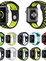 abordables -Bracelet de Montre  pour Apple Watch Series 4/3/2/1 Apple Bracelet Sport Silikon Sangle de Poignet