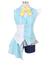 cheap -Inspired by Macross Frontier Cosplay Anime Cosplay Costumes Cosplay Suits Other Short Sleeves Cravat Shirt Top Skirt Pants Bow More