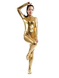 """Недорогие -Костюмы на все тело """"зентай"""" Ниндзя Костюмы зентай Косплэй костюмы Золотой Однотонный Костюмы зентай Спандекс клей Муж. Жен. Хэллоуин"""