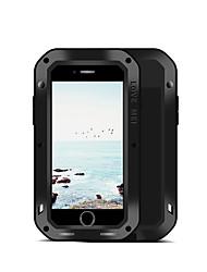 Недорогие -Кейс для Назначение Apple iPhone 8 Plus iPhone 7 Plus Вода / Грязь / Надежная защита от повреждений Чехол Сплошной цвет Твердый Металл для