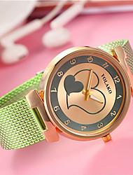 Недорогие -Жен. Кварцевый Китайский Повседневные часы сплав Группа Heart Shape Мода Черный Белый Синий Красный Зеленый Золотистый Желтый Роуз