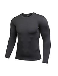 preiswerte -Herrn Laufshirt Langarm Atmungsaktivität T-shirt für Übung & Fitness Polyester Blau / Rot / Weiß / Grau L / XL / XXL