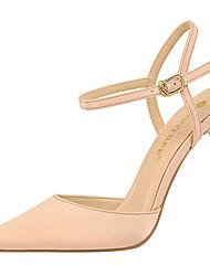 preiswerte -Damen Schuhe Pelz Frühling Sommer Pumps Gladiator Sandalen Stöckelabsatz für Normal Party & Festivität Grau Braun Rot Rosa Mandelfarben
