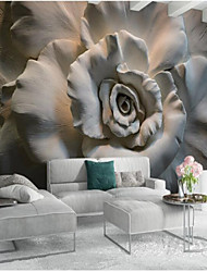 cheap -Floral Art Deco 3D Home Decoration Classic Modern Wall Covering, Canvas Material Adhesive required Mural, Room Wallcovering