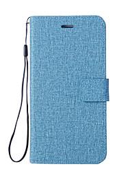 abordables -Coque Pour Xiaomi Mi 6 Mi 5X Porte Carte Portefeuille Avec Support Clapet Coque Intégrale Couleur unie Dur faux cuir pour Xiaomi Mi Note