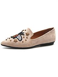abordables -Femme Chaussures Polyuréthane Hiver Confort Sabot & Mules Bout rond Strass pour Décontracté Noir Café Rose Chameau