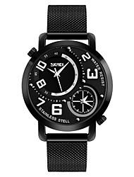 Недорогие -SKMEI Муж. Повседневные часы Модные часы Кварцевый 30 m Защита от влаги Повседневные часы Нержавеющая сталь Группа Аналоговый На каждый день Черный - Черный Красный Синий