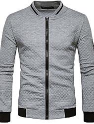 abordables -Conjunto de ropa deportiva slim de mangas largas para hombres - cuello en V macizo