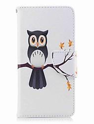 Недорогие -Кейс для Назначение Huawei P9 lite mini P8 Lite (2017) Бумажник для карт Кошелек со стендом Флип С узором Чехол Сова Твердый Кожа PU для